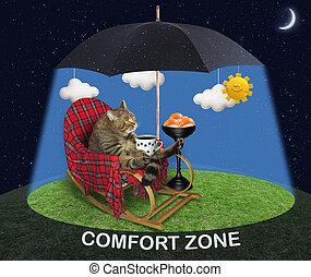 Cat under a black umbrella 3