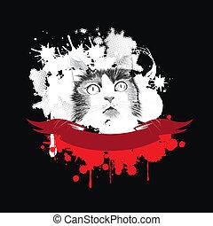 Cat vector card.