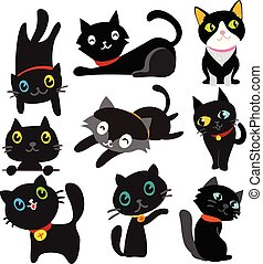 cat vector collection design