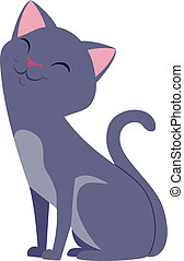 Cat Vector illustration.