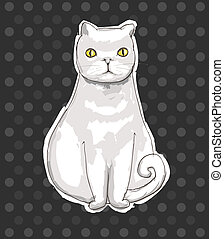 Cat, vector illustration