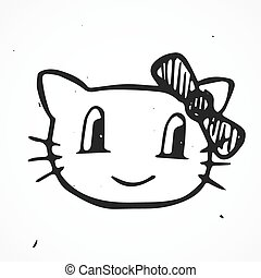 Cat Vector Illustration, hand drawn