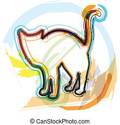 Cat, vector illustration
