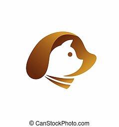 cat vector logo, dog logo design
