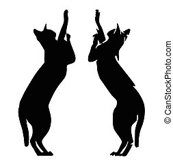 cat vector silhouette