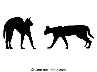cat vector silhouette