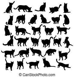 Cat Vector Silhouettes