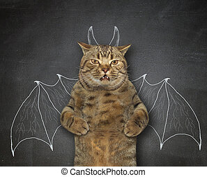 Cat wants to be bat