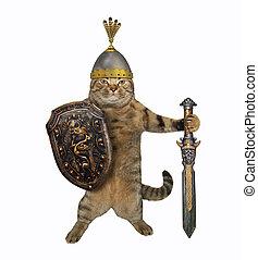 Cat warrior with a big sword 2