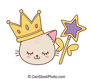 cat with crown and wand