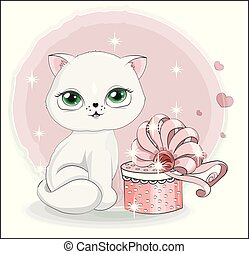 cat with gift 4