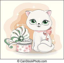 cat with gift 5