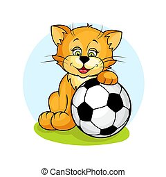 cat with soccer ball2
