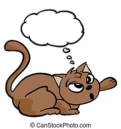 cat with thought bubble