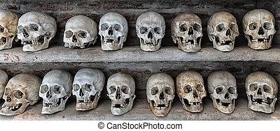catacomb., 头骨, 人类, 内部