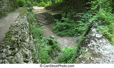 Catacombs near Aladzha. Varna. Bulgaria. Shot in 4K...