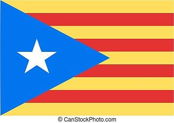 catalan, drapeau, catalogne