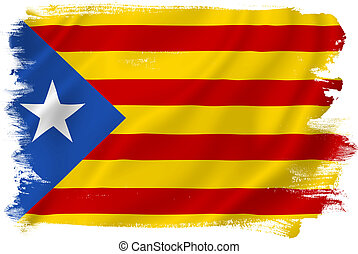Catalan flag backdrop background texture.
