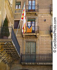 Catalan Flag on balcony