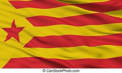 Catalan Nationalism Flag Closeup View - Catalan Nationalism...