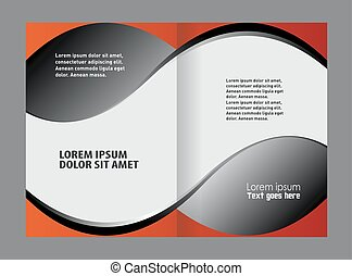 Catalog or brochure template design