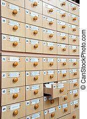 catalogo, scheda biblioteca