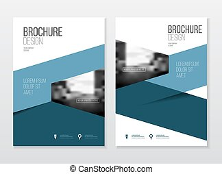Catalogue cover design. Annual report vector illustration...
