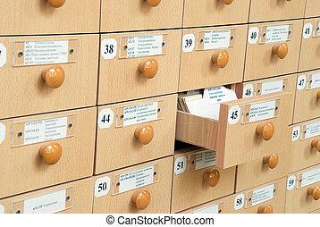 catalogus, de kaart van de bibliotheek