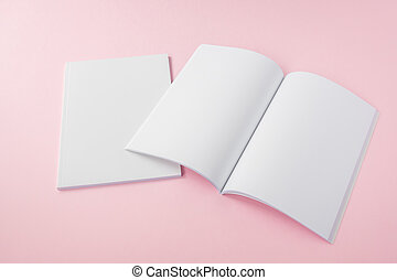 catalogus, tijdschriften, op, spotten, leeg
