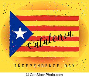 Catalonia Flag abstract background