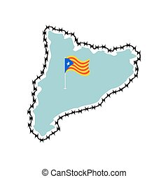 Catalonia is sovereignty and independence. Estelada Blava...
