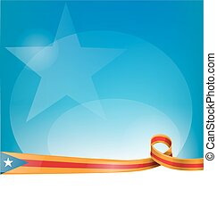 catalonia ribbon flag