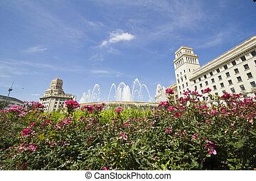 Catalonia square. Barcelona, Spain.