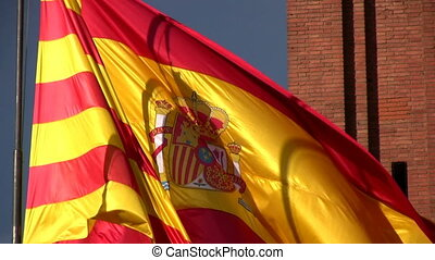 Catalunya Flag - View in a sunny day