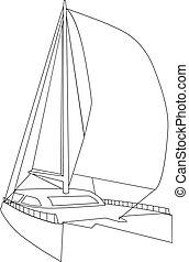 catamarán, navegación