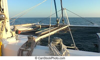 Catamaran and Caribbean Sea