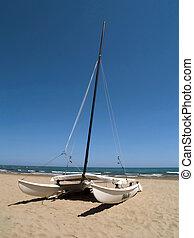 Catamaran at the beach