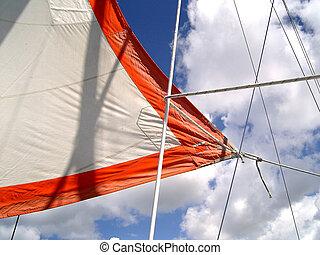 Catamaran (Bridgetown/Barbados); photographed in october ...