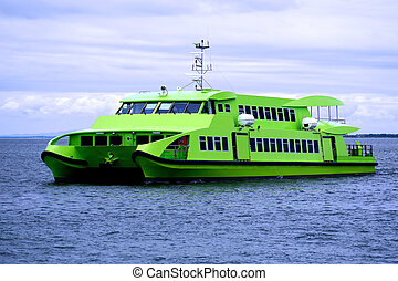 Catamaran Ferry A1 - Catamaran ferry boat on a calm day at...