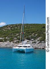 Catamaran Lagoon 421 Yacht Charter - Lagoon 421 type sailing...