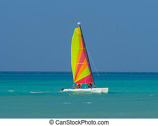 Catamaran sailboat