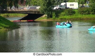 Catamarans on the lake