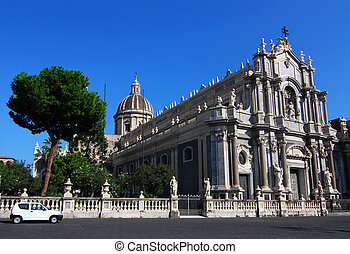 Catania cathedral, in Sicily - The cathedral of Sant\'Agata...
