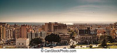Catania cityscape - Catania, Sicily, Italy, December 28...