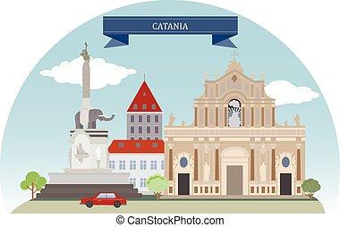 Catania, Italy - Catania. Italian city on the east coast of...