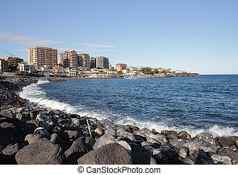 Catania seafront - The seafront of Catania in Sicily, Italy