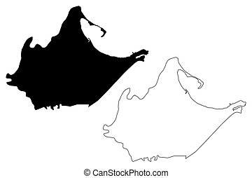 Catano municipality (Commonwealth of Puerto Rico, Porto Rico, PR, Unincorporated territories of the United States) map vector illustration, scribble sketch Catano map