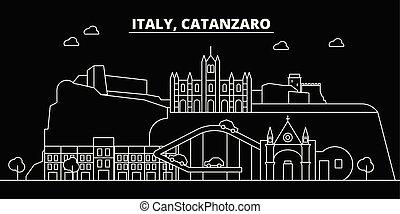Catanzaro silhouette skyline. Italy - Catanzaro vector city,...