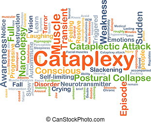 Cataplexy background concept - Background concept wordcloud...