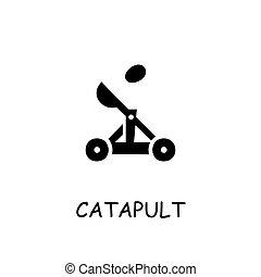 Catapult flat vector icon